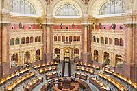 Reading room at Library of Congress, Washington, DC