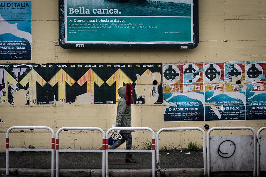 Fascist manifests in the Roman San Giovanni neighbourhood.