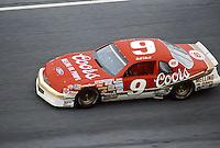 Bill Elliott #9 Harry Melling Coors Ford Thunderbird, practice, Daytona 500, Daytona International Speedway, Daytona Beach, Florida, February 15, 1987. (Photo by Brian Cleary/www.bcpix.com)
