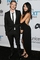 HOLLYWOOD, LOS ANGELES, CA, USA - OCTOBER 30: Ryan Dorsey, Naya Rivera arrive at UNICEF's Next Generation's 2nd Annual UNICEF Masquerade Ball held at the Masonic Lodge at the Hollywood Forever Cemetery on October 30, 2014 in Hollywood, Los Angeles, California, United States. (Photo by Rudy Torres/Celebrity Monitor)