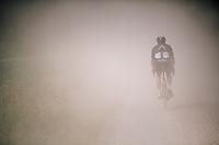 Andrew Fenn (GBR/Aquablue) eating dust <br /> <br /> 3rd Dwars Door Het hageland 2018 (BEL)<br /> 1 day race:  Aarschot > Diest: 198km