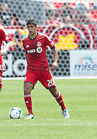 29 June 2013: Toronto FC midfielder Matias Laba #20 in action during an MLS game between Real Salt Lake and Toronto FC at BMO Field in Toronto, Ontario Canada.<br /> Real Salt Lake won 1-0.