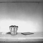 Vintage black and white. Basket of apples for sale. Lorson fruit stand 1978. Negative file #78-267-10. 3 of 3