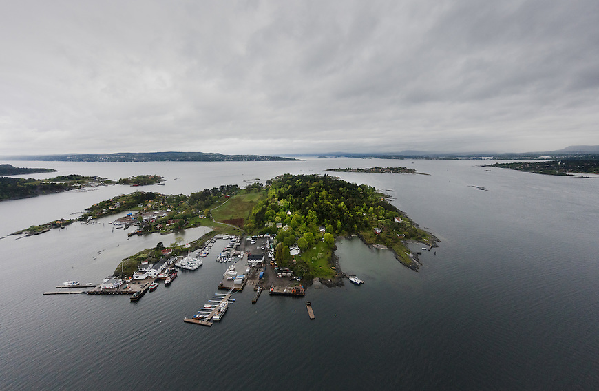 Oslo fra lufta, 20150519. Lindøya. Foto: Eirik Helland Urke.