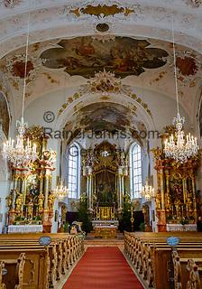 Deutschland, Bayern, Werdenfelser Land, Mittenwald: Pfarrkirche St. Peter und Paul - innen | Germany, Upper Bavaria, Werdenfelser Land, Mittenwald: parish church St Peter and Paul - interior