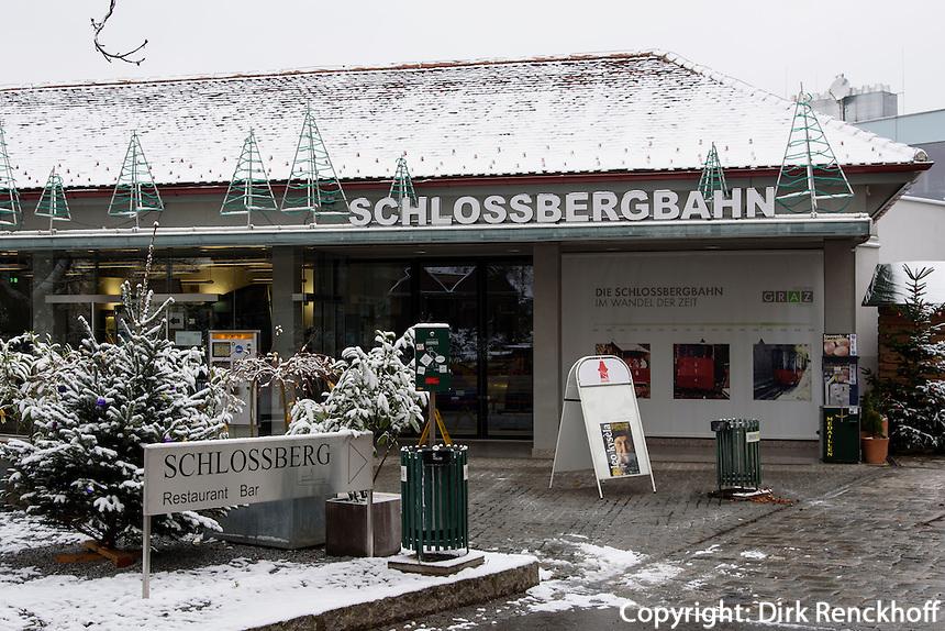 Bergstation der Schlossbergbahn, Graz, Steiermark, Österreich<br /> Hillstatton of Schlossbergbahn, Graz, Styria, Austria