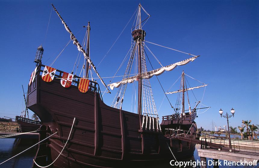 Schiffe des Kolumbus in Huelva - La Rabida, Andalusien, Spanien