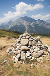 GR Footpath, GR20, Hiking Trail down spine of Corsica, Monte 'd Oro,  Corsica, France, towns in Corsica, French coastal villages, Corsican coast,
