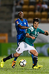 Diego Eli Moreira of Long Lions (L) in action against SC Kitchee Forward Alessandro Ferreira (R) during the Community Cup match between Kitchee and Eastern Long Lions at Mong Kok Stadium on September 23, 2017 in Hong Kong, China. Photo by Marcio Rodrigo Machado / Power Sport Images