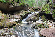 Small cascade on Tecumseh Brook, near the Mt Tecumseh Trail (ski area side) in the White Mountains of New Hampshire.