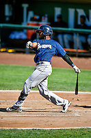 Yerald Martinez (7) of the Helena Brewers at bat against the Ogden Raptors in Pioneer League action at Lindquist Field on July 16, 2016 in Ogden, Utah. Ogden defeated Helena 5-4. (Stephen Smith/Four Seam Images)