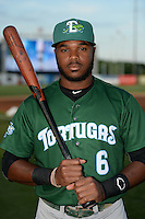 Daytona Tortugas outfielder Phillip Ervin (6) poses for a photo before a game against the Tampa Yankees on April 24, 2015 at George M. Steinbrenner Field in Tampa, Florida.  Tampa defeated Daytona 12-7.  (Mike Janes/Four Seam Images)