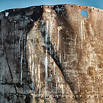 Rusting water tank and troughs, Lunar Cuesta, Nev.
