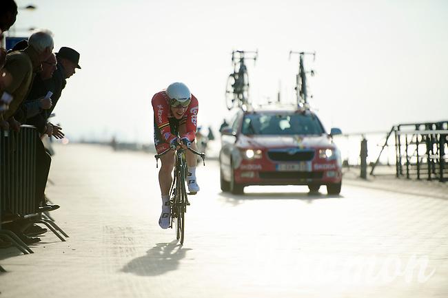 Boris Vallée (BEL) racing next to the beach<br /> <br /> 3 Days of West-Flanders 2014<br /> day 1: TT/prologue Middelkerke 7,0 km