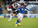 St Mirren v St Johnstone…19.10.19   St Mirren Park   SPFL<br />Michael O'Halloran and Stephen McGinn<br />Picture by Graeme Hart.<br />Copyright Perthshire Picture Agency<br />Tel: 01738 623350  Mobile: 07990 594431