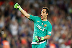FC Barcelona's Claudio Bravo celebrates goal during Supercup of Spain 2nd match.August 17,2016. (ALTERPHOTOS/Acero)