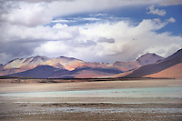 BOLIVIA - ALTIPLANO<br /> Coloured mountains and volcanoes in dizzy heights along the jeep track to Uyuni<br /> <br /> Full size: 69,2 MB