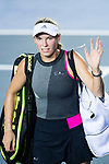 Caroline Wozniacki of Denmark leaves the court after winning Eugenie Bouchard during the Prudential Hong Kong Tennis Open 2017 match between Caroline Wozniacki of Denmark and Eugenie Bouchard of Canada at Victoria Park on October 10, 2017 in Hong Kong, China. Photo by Marcio Rodrigo Machado / Power Sport Images