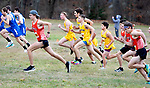 WATERTOWN CT. - 16 November 2020-111620SV01-Runners from Terryville and Thomaston take off with other Berkshire League runners during the Berkshire League cross country championships in Watertown Monday.<br /> Steven Valenti Republican-American
