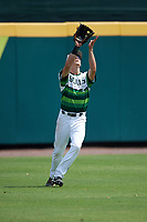 South Florida Bulls center fielder Garrett Zech (27) during a game against the Dartmouth Big Green on March 27, 2016 at USF Baseball Stadium in Tampa, Florida.  South Florida defeated Dartmouth 4-0.  (Mike Janes/Four Seam Images)