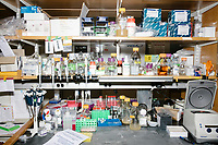 Lab equipment is seen in George Church's Lab in the New Research Building at Harvard Medical School's Department of Genetics in Boston, Massachusetts, USA, on Tues., Sept. 5, 2017.