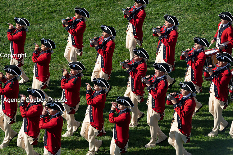 The United States Army Old Guard Fife and Drum Corps participate in the State Visit Arrival Ceremony for Australia's Prime Minister Scott Morrison Friday, Sept. 20, 2019, on the South Lawn of the White House. (Official White House Photo by Joyce N. Boghosian)