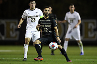 WINSTON-SALEM, NC - DECEMBER 01: Bruno Lapa #10 of Wake Forest University passes the ball during a game between Michigan and Wake Forest at W. Dennie Spry Stadium on December 01, 2019 in Winston-Salem, North Carolina.
