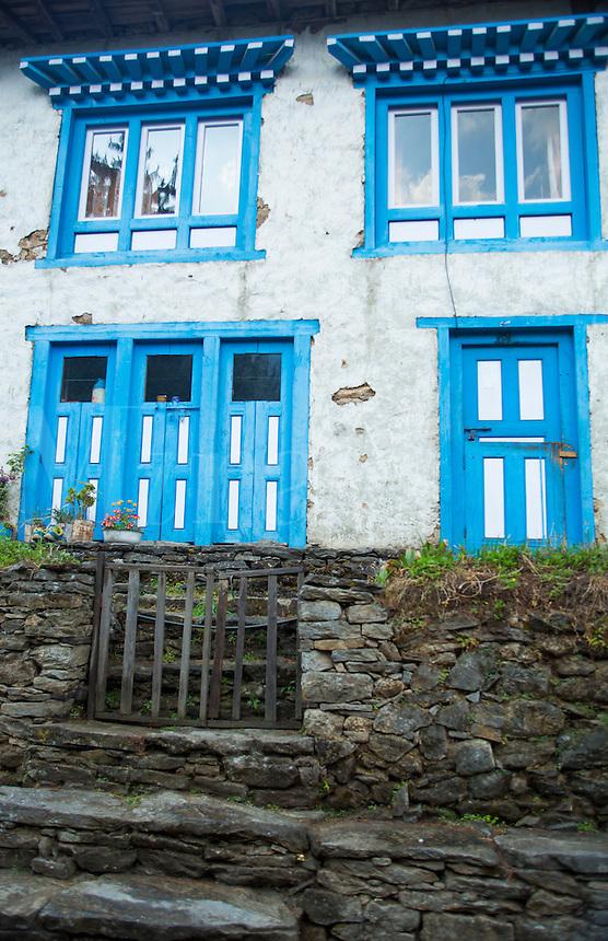Nepal Large village house in the village of Thalsharoa, near Lukla, Solukhumbu, remote, Mt Everest, Himalayas