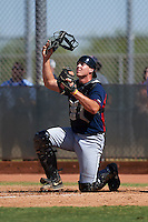 Cleveland Indians Daniel Salters (8) during an instructional league game against the Milwaukee Brewers on October 8, 2015 at the Maryvale Baseball Complex in Maryvale, Arizona.  (Mike Janes/Four Seam Images)