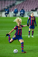6th January 2021; Camp Nou, Barcelona, Spain. La Liga Womens league football FC Barcelona versus Rcd Espanyol; Hamraoui of Barcelona lines up a shot on goal during the Liga Iberdrola match