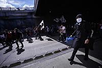 BOGOTA - COLOMBIA, 16-12-2019: Manifestantes en las calles de Bogotá durante la jornada de paro Nacional en Colombia hoy, 16 de diciembre de 2019. La jornada Nacional que empezó el pasado 21 de noviembre de 2019 es convocada para rechazar el mal gobierno y las decisiones que vulneran los derechos de los Colombianos. / Protestor on the streets of Bogota during the National Strike day in Colombia today, December 16, 2019. The National Strike that began the past November 21, 2019, is convened to reject bad government and decisions that violate the rights of Colombians. Photo: VizzorImage / Diego Cuevas / Cont