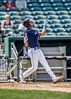 6 June 2021: New Hampshire Fisher Cats designated hitter for the game Jordan Groshans in action against the Binghamton Rumble Ponies at Northeast Delta Dental Stadium in Manchester, NH. The Rumble Ponies defeated the Fisher Cats 9-6 to close out their 6-game series. Mandatory Credit: Ed Wolfstein Photo *** RAW (NEF) Image File Available ***