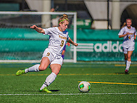 29 September 2013: University of Vermont Catamount Midfielder/Defender Alex Jenkins, a Freshman from Smithfield, RI, in action against the Stony Brook University Seawolves at Virtue Field in Burlington, Vermont. The Lady Cats fell to the visiting Seawolves 2-1 in America East play. Mandatory Credit: Ed Wolfstein Photo *** RAW (NEF) Image File Available ***