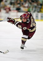 18 October 2009: Boston College Eagle forward Joe Whitney, a Junior from Reading, MA, scores the game opening goal on a slapshot during the first period against the University of Vermont Catamounts at Gutterson Fieldhouse in Burlington, Vermont. The Catamounts defeated the visiting Eagles 4-1. Mandatory Credit: Ed Wolfstein Photo