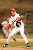March 19, 2006:  Pitcher Trevor Holder (12) of the Georgia Bulldogs delivers a pitch during a game at Foley Field in Athens, GA.  Photo By David Stoner/Four Seam Images