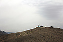 Iraq 2015 On the mounts around Sinjar, the Kurdish flag is fluttering in the wind<br />