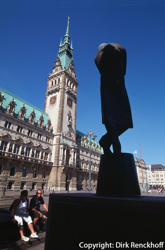 Deutschland, Hamburg, Heinedenkmal am Rathaus