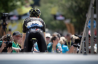 Adam Yates (GBR/Mitchelton-Scott) at the race start in front of the Arena in Nîmes<br /> <br /> Stage 16: Nîmes to Nîmes (177km)<br /> 106th Tour de France 2019 (2.UWT)<br /> <br /> ©kramon
