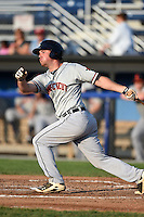Connecticut Tigers designated hitter Joey Pankake (46) at bat during a game against the Batavia Muckdogs on July 21, 2014 at Dwyer Stadium in Batavia, New York.  Connecticut defeated Batavia 12-3.  (Mike Janes/Four Seam Images)