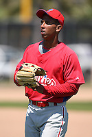 March 30, 2010:  Outfielder Anthony Gose of the Philadelphia Phillies organization during Spring Training at Carpenter Complex in Clearwater, FL.  Photo By Mike Janes/Four Seam Images