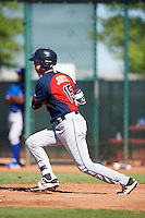 Cleveland Indians Nolan Jones (15) during an Instructional League game against the Kansas City Royals on October 11, 2016 at the Cleveland Indians Player Development Complex in Goodyear, Arizona.  (Mike Janes/Four Seam Images)