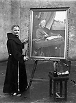 Brother Juniper, the famous painter from The Friary, Killarney photographed in 1933 .Picture by Daniel MacMonagle