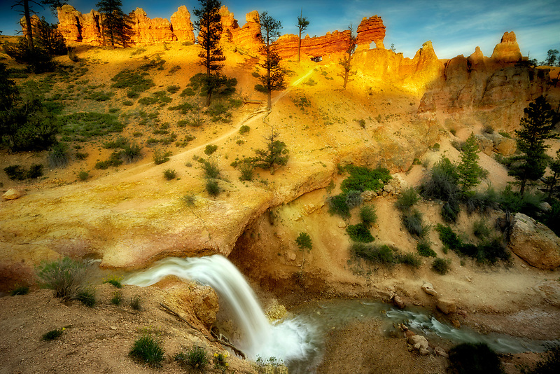 Waterfalls on Tropic Ditch. Zion National Park, Utah
