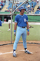 Kansas City Royals George Brett in the batting cage during spring training circa 1989.  (MJA/Four Seam Images)