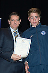 St Johnstone FC Youth Academy Presentation Night at Perth Concert Hall..21.04.14<br /> Chairman Steve Brown presents to Shaun Struthers<br /> Picture by Graeme Hart.<br /> Copyright Perthshire Picture Agency<br /> Tel: 01738 623350  Mobile: 07990 594431