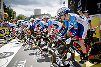 Team Total-Direct Energie off the start ramp<br /> <br /> Stage 2 (TTT): Brussels to Brussels (BEL/28km) <br /> 106th Tour de France 2019 (2.UWT)<br /> <br /> ©kramon