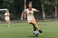 NEWTON, MA - SEPTEMBER 12: Ella Richards #22 of Boston College controls the ball during a game between Holy Cross and Boston College at Newton Campus Soccer Field on September 12, 2021 in Newton, Massachusetts.