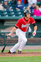 Corey Seager (12) of the Great Lakes Loons follows through on his swing against the Wisconsin Timber Rattlers at the Dow Diamond on May 4, 2013 in Midland, Michigan.  The Timber Rattlers defeated the Loons 6-4.  (Brian Westerholt/Four Seam Images)