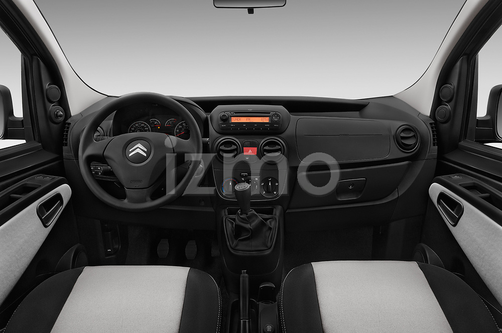 Stock photo of straight dashboard view of a 2017 Citroen Nemo  base 5 Door Mini Van