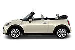 Car driver side profile view of a 2019 Mini Cooper Cooper S Chili 2 Door Convertible
